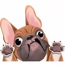 New Funny 3d Pug Dogs Waterproof Vinyl Car Window Decal Cute Pet Puppy Laptop Luggage Sticker Car Stickers Aliexpress
