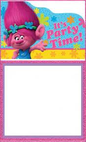 Free Printable Trolls Invitation Card Invitations Online