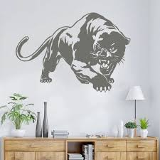 Black Color Wild Large Animal Creative Removable Vinyl Diy Wall Sticker Tiger Wall Decal Art Mural Home Decor Cx310 Wall Stickers Aliexpress