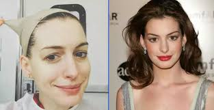 famous celebrities look without makeup