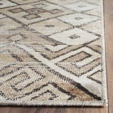 brown vintage geometric rug