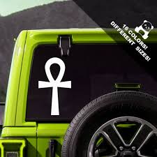 50 Off Ankh Car Decal Egyptian Truck Or Bumper Sticker Etsy