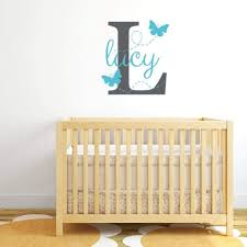 Butterfly Wall Decal Girl Name Decal Db310 Designedbeginnings