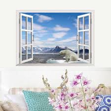 Creative Home Decor 3d Fake Window Wall Stickers Different Styles For Living Room Mural Art 48 68 Cm Wall Decals Wallpapers Window Wall Sticker Wall Stickerdecoration 3d Aliexpress