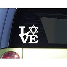 Star Of David Love 6 Sticker F127 Israel Decal Jewish Christian Walmart Com Walmart Com