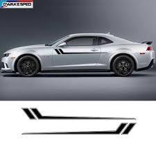 Racing Sport Stripes Car Waist Lines Sticker Auto Body Door Side Decor Vinyl Decals For Chevrolet Camaro Rs Ls Ss Lt 2010 2018 Car Stickers Aliexpress