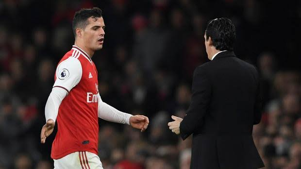 """Image result for EMERY AND XHAKA"""""""