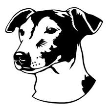 Jack Russell Head Decal Sticker