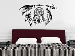 Amazon Com Tribal Arrow Wall Decal Dreamcatcher Dream Catcher Feathers Night Symbol Indian Vinyl Sticker Decals Home Decor Bedroom Design Interior Ns976 Arts Crafts Sewing