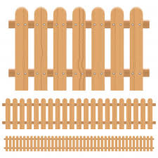 Premium Vector Wooden Fence Design Illustration Isolated On White Background