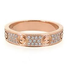 cartier love 3 diamond 18k white gold