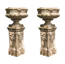 1920 s english pair urns on plinths