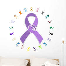 General Cancer Awareness Ribbon Wall Decal By Wallmonkeys Peel And Stick Graphic 36 In W X 36 In H Wm124177 Walmart Com Walmart Com