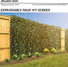Bouya The Patio Shop Expandable Faux Artificial Ivy Trellis Fence Screen Privacy Screen Wal Screen Double Sided Leaves Outdoor Indoor Backdrop Garden Backyard Home Decorations Amazon Ca Patio Lawn Garden