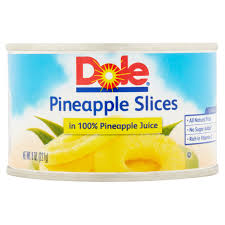 dole pineapple slices in 100 pineapple