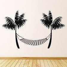 Palm Trees Beach Hammock Wall Decal Sticker Ws 17846 Ebay