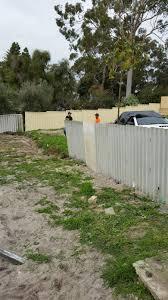 Jarrah Jungle New Limestone Retaining Wall Colorbond Fence
