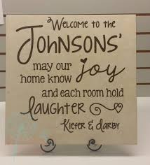 Welcome Family Name Personalized Vinyl Wall Decals Quote