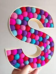 Custom Free Standing Letter 39 S 39 Monogrammed Initial Kids Room Decorative Letter Letter A Crafts Decorative Letters Free Standing Letters