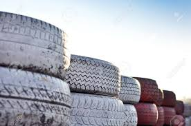 Close Up Of Racetrack Fence Of Red And White Old Tires Stock Photo Picture And Royalty Free Image Image 9439526