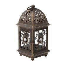 8 vintage metal lantern candle holder