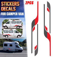 Rv Caravan Body Stripes Vinyl Decal Stickers Diy Decoration Large Graphics For Motorhome Travel Trailer For Ford Transit Car Stickers Aliexpress