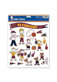 Cleveland Cavaliers Family Pack Auto Decal Red 5715265