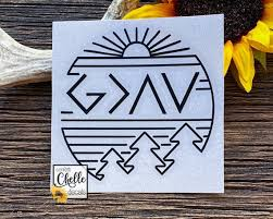 God Is Greater Than The Highs And Lows Decal Sticker Car Etsy