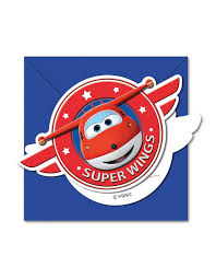 6 Invitaciones Super Wings