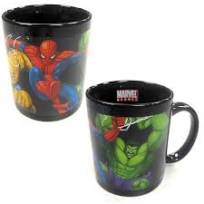 Marvel Heroes Color Change Decal Mug Entertainment Earth