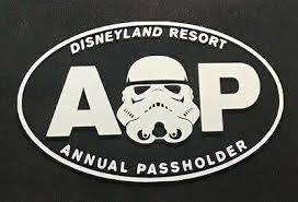 Disney Disneyland Ap Annual Passholder Car Decal Sticker Star Wars Stormtrooper Ebay