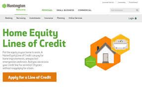 huntington home equity line of credit