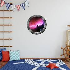 Galaxy Porthole Window Decal Space Ship Outer Space Kids Room Graphics Sticker Wall Art Vwaqa Ps1