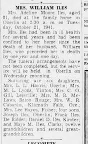 obit - Adeline Moore Iles - Newspapers.com