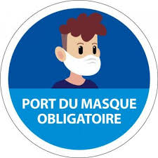 Panneau Port du masque obligatoire Young Modèle:PVC - Diam. 315 mm ...