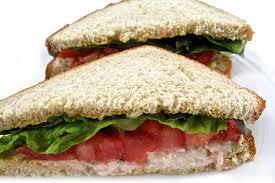 a darn good tuna sandwich with weight