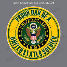 Ar 2259 Proud Dad Of A Us Army Soldier Car Truck Bumper Etsy
