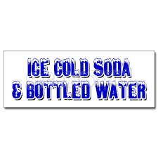 12 Ice Cold Soda Bottled Water Decal Sticker Iced Fountain Drinks Pop H2o Walmart Com Walmart Com