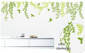 Spring Branches And Flying Birds Vinyl Wall Decal Sticker Etsy