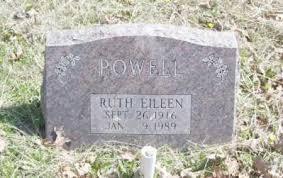 POWELL, RUTH EILEEN - Baxter County, Arkansas | RUTH EILEEN POWELL -  Arkansas Gravestone Photos