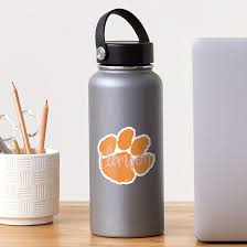 Clemson Paw Sticker By Nicolekatewill Redbubble