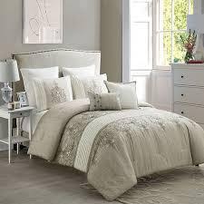 7 piece embroidered luxury comforter