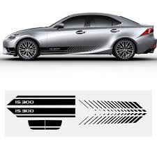 For Lexus Is300 Car Side Body Decal Stickers For Hatchback Sedan Car Decals Diy Car Decoration Stickers 200cm Auto Accessories Car Stickers Aliexpress