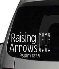 Raising Arrows Decal Car Decal Raising Arrows Etsy