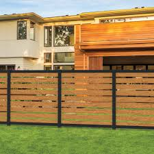 Freedom Artisan 6 Ft H X 6 Ft W Black Aluminum Flat Top Privacy Lowes Com Backyard Fences Fence Gate Design Easy Fence