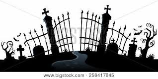 Cemetery Gate Vector Photo Free Trial Bigstock