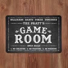 Game Room Signs Wayfair