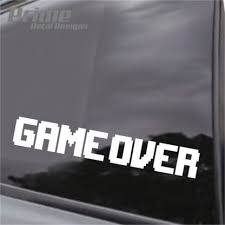 Game Over Gaming Video Game Car Wall Window Vinyl Decal Sticker