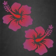 Hibiscus Flower Hawaiian Floral Purple Rhinestone Bling Car Decal Sticker 50 16 Ebay