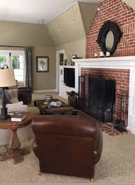 paint colours to update a brick fireplace